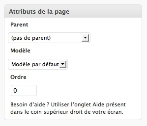 Capture d'écran - Modèle de page WordPress