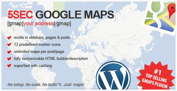 5sec-google-maps-plugin-wordpress