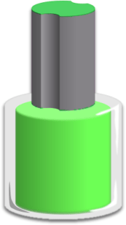 nail polish bottle green - household cosmetics