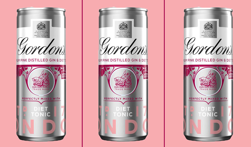 Gordon's New Pink Gin and Diet Tonic Cans Have Arrived in ...