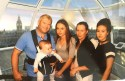 The family of Neringa Narusyte. Step dad Colin Milne with baby Jay, Naringa, mum Ilona and sister Erik