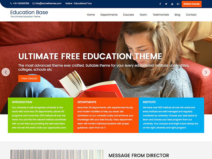 Education Base WP Theme