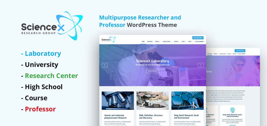 science X multipurpose WP theme