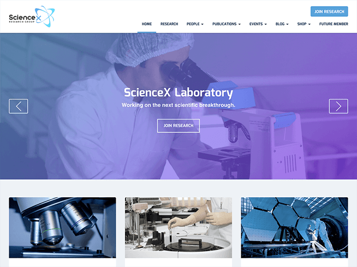 Science-X WP Education Theme