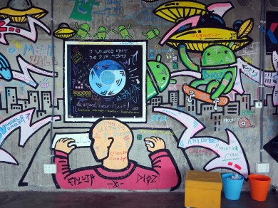 Chrome and Android Graffiti