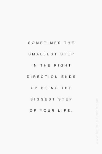 Image result for small step in the right direction