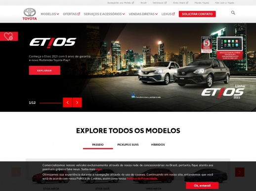 Toyota Motors Brasil WordPress website
