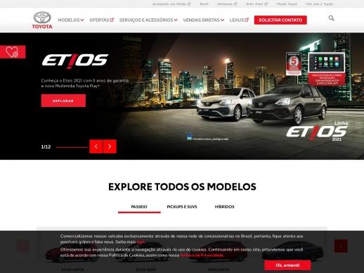 Toyota Motors Brasil WordPress website