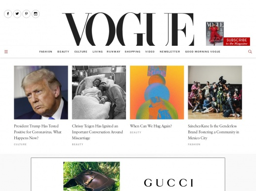Vogue fashions WordPress website