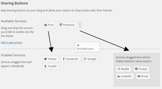 Configuring Sharing Buttons