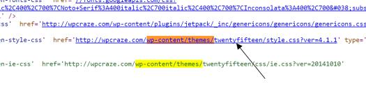 Detecting WordPress Theme
