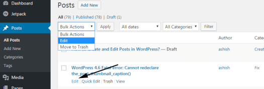 Editing Posts in WordPress