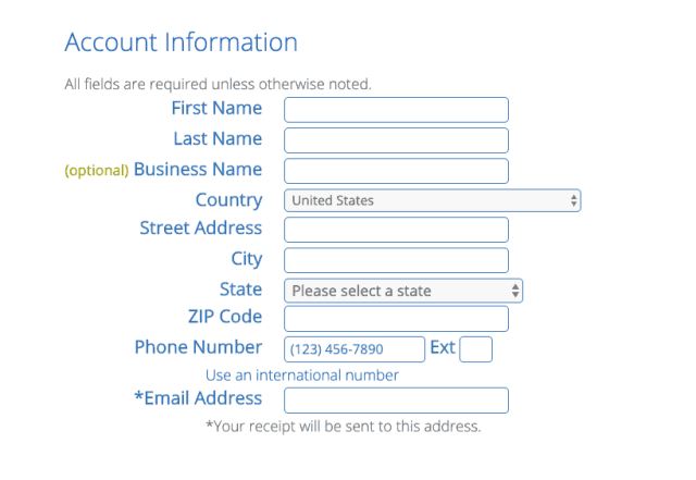 bluehost-account-information