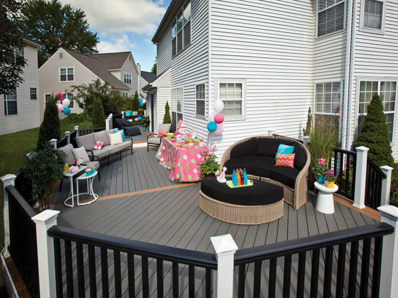 wood plastic composite deck materials