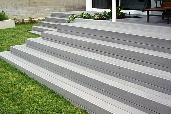 composite deck stairs composite wood