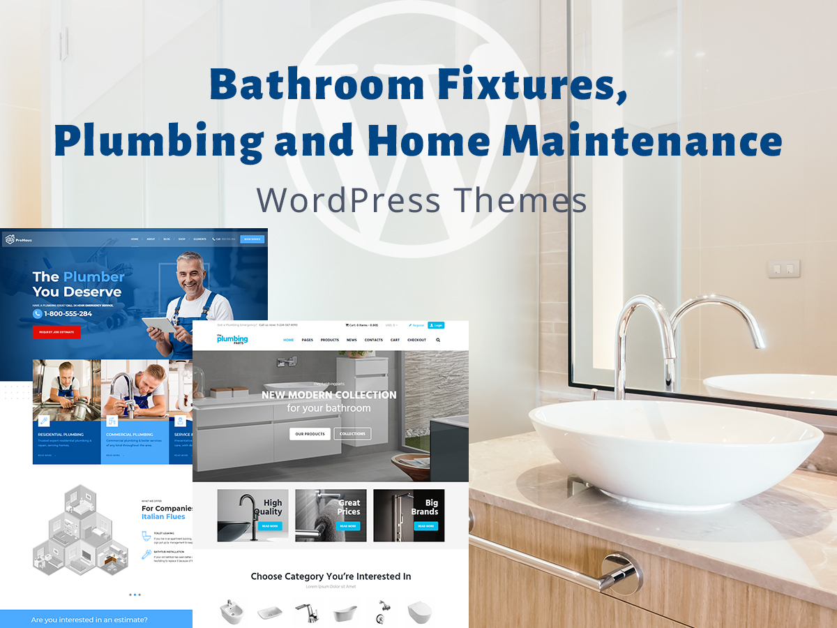 Bathroom Fixtures And Home Maintenance Wp Themes Wp Daddy