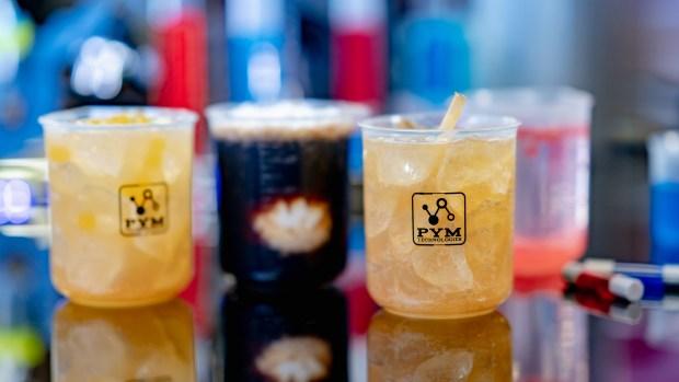 Disney's Marvel bar will serve boozy cocktails in beaker glasses that fill from the bottom