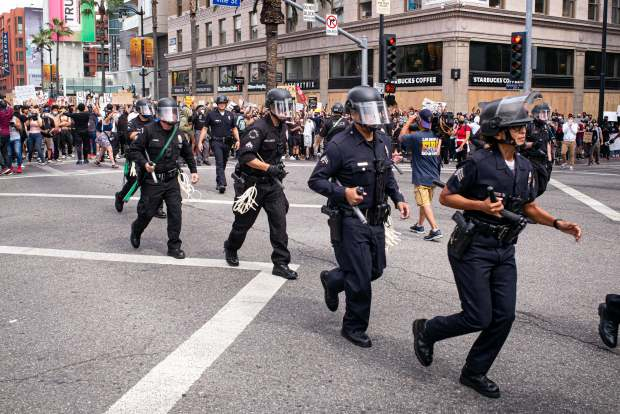 LAPD response mishandled parts of protests sparked by the death of George Floyd, reports find