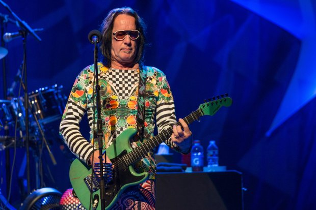 Todd Rundgren, shown here performing in 2014, is doing a virtual tour that has California dates themed around San Diego, Los Angeles and San Francisco. (File photo by Amy Harris/Invision/AP)