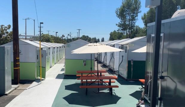 Los Angeles' newest 'tiny home village' for homeless opens in Tarzana
