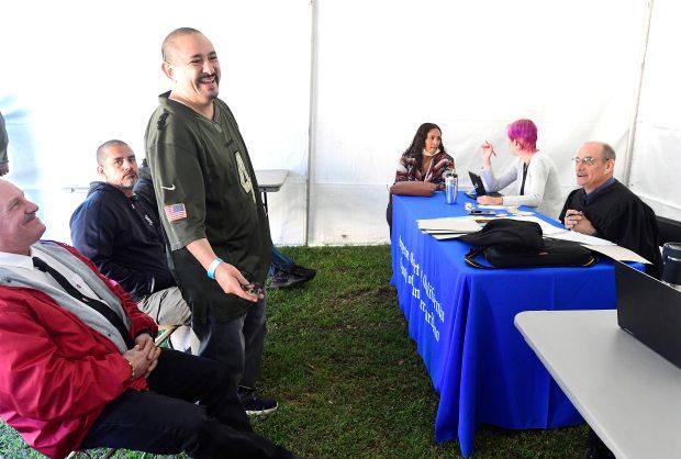 Veterans, homeless get haircuts, dental work, other help at San Bernardino event