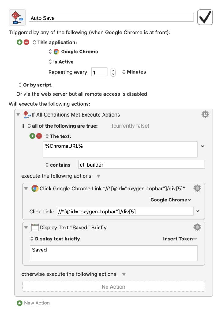 Mac] Auto Save in Oxygen editor using Keyboard Maestro - WPDevDesign
