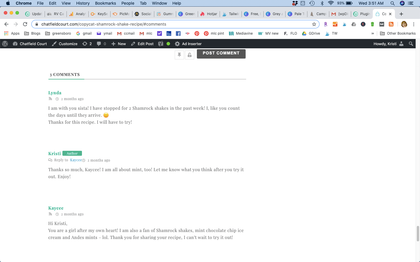 Comment Layout Not Working Plugin Update Issues