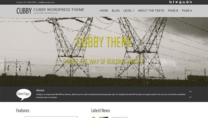 Cubby WordPress Theme