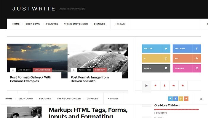 JustWrite WordPress Theme