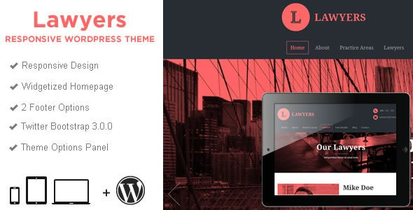 Lawyers Business WordPress Theme