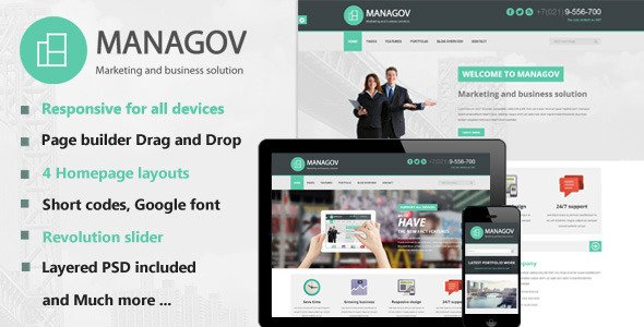 Managov WordPress Theme