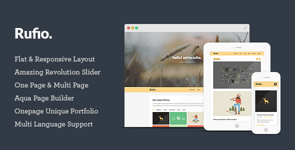 Rufio Responsive WordPress Theme