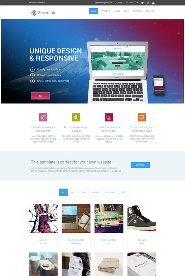 Sevenfold-WordPress-Theme
