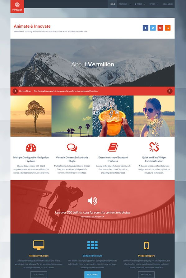 Vermilion WordPress Theme