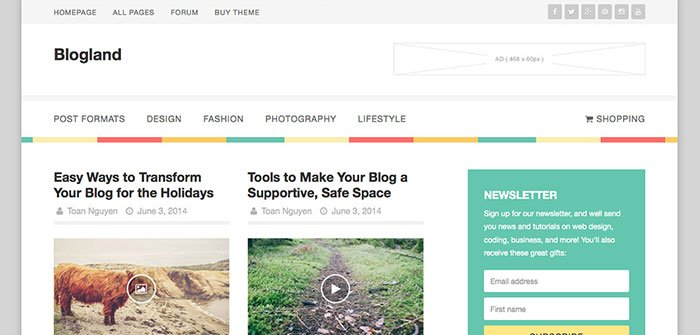 Blogland - Blog WordPress Theme