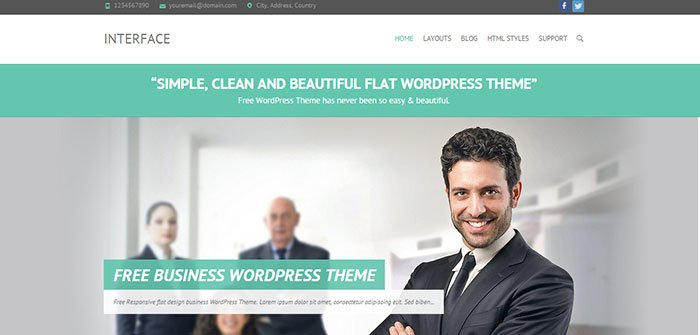 Interface - Flat Business WordPress Theme
