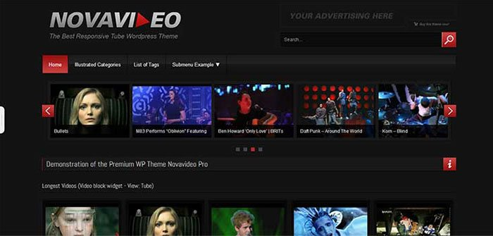 Novavideo - WordPress Video Theme