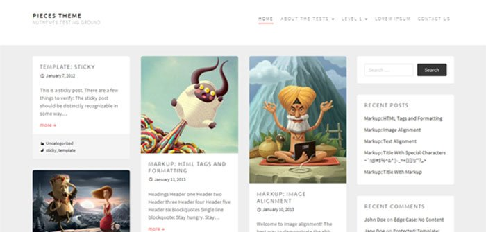 Pieces Simple Clean WordPress Theme