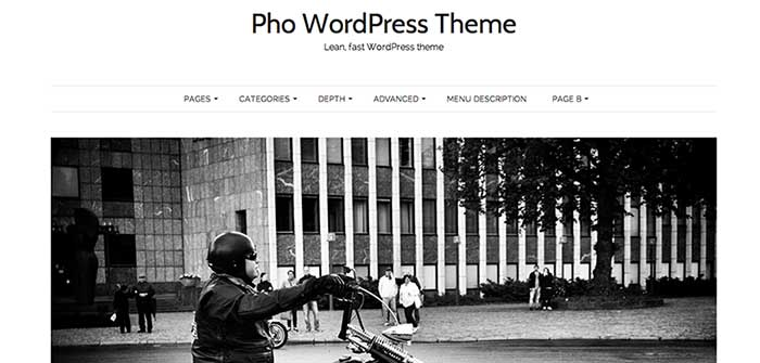 pho wordpress theme