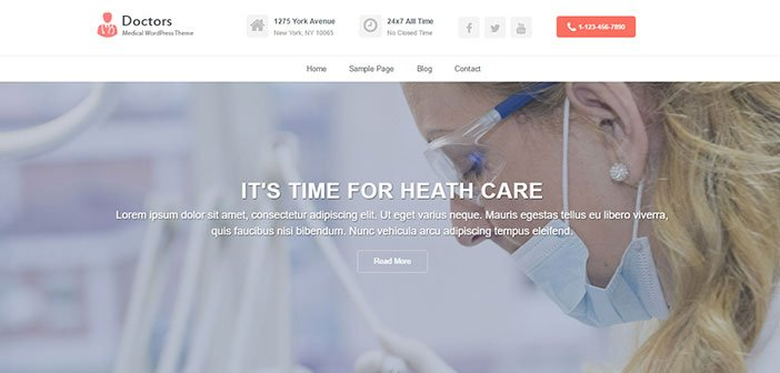Doctors - Professional Medical WordPress Theme