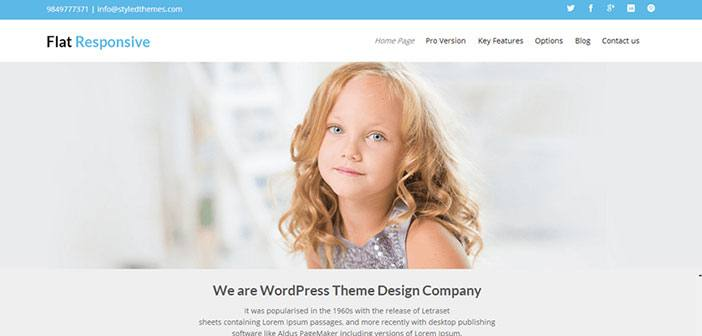 Flat Responsive - Business WordPress Theme