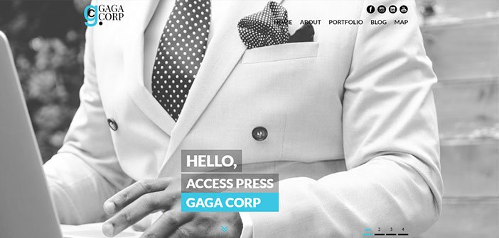 Gaga Corp - One Page Portfolio WordPress Theme