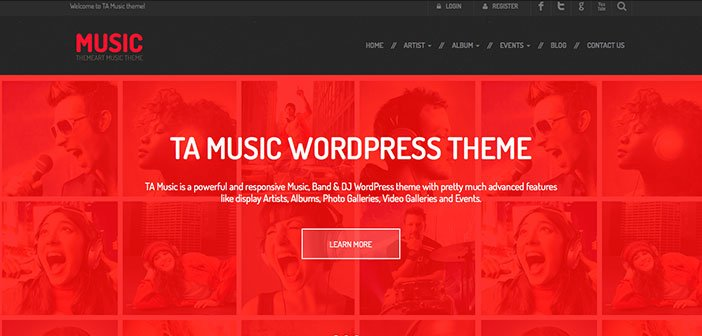 TA Music - Best Music Band WordPress Theme