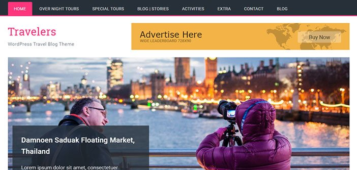 Travelers - Travel Blog WordPress Theme