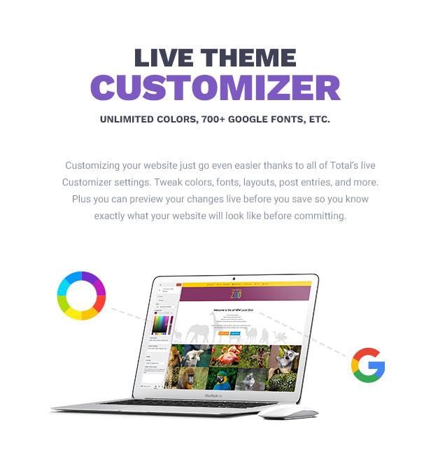 Total WordPress Theme Live Theme Customizer