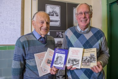 Peter Lamb and Chris Buck with some of the Historical Society's publications available from the Museum and Archives