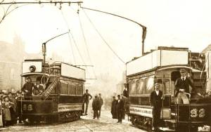 Trams were the most common form of electric transport