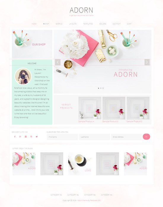 Adorn WooCommerce Ready Feminine WordPress Theme