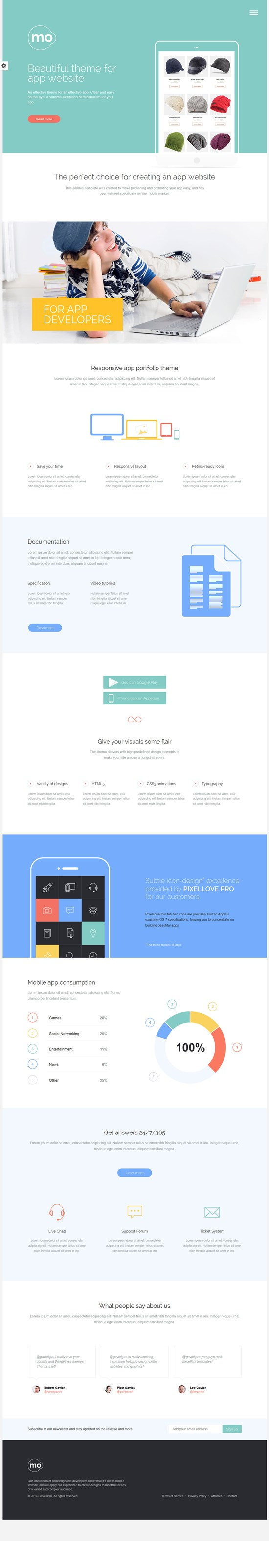MO - Mobile Apps and Products WordPress Theme