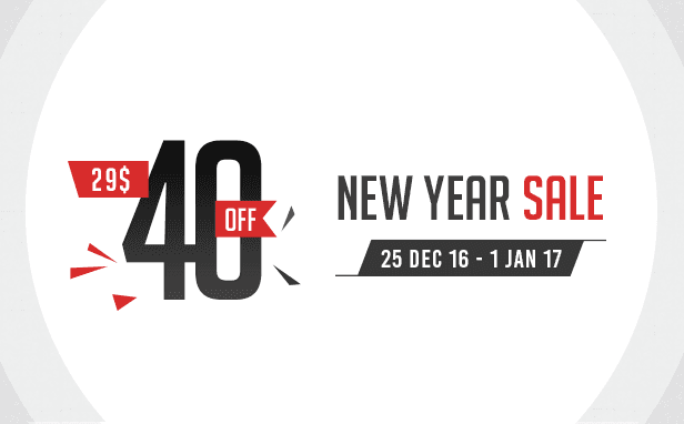 New Year Sale 40% Off